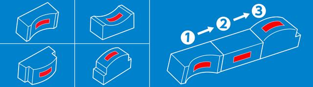 金属及び非金属表面・立体面対応型多種類テープ対応自動テープ貼り付け機